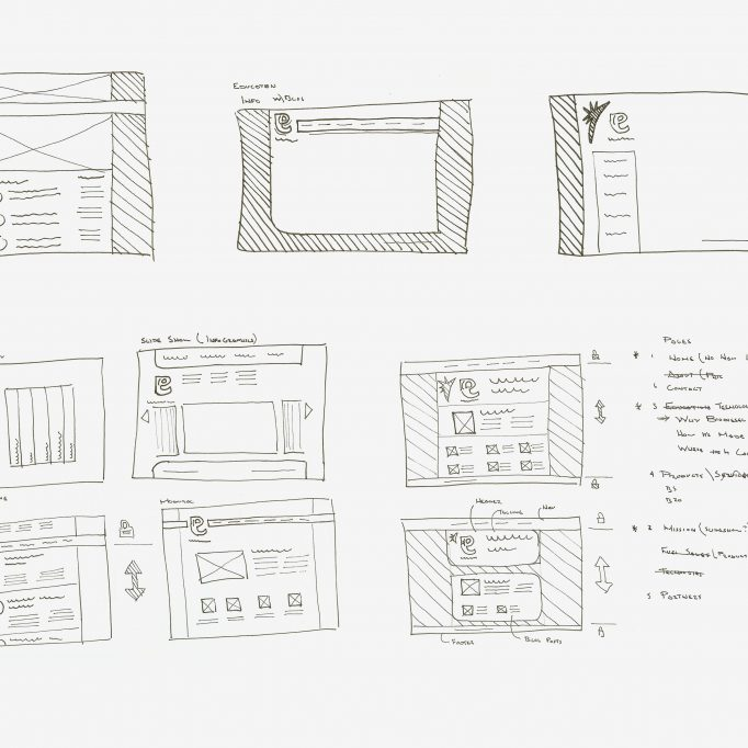 Earthlight website layouts thumbails