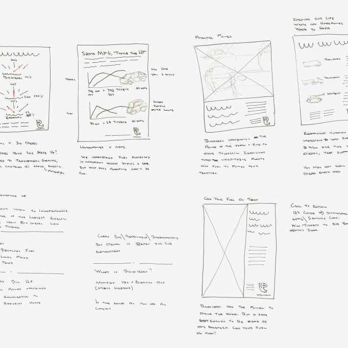Earthlight advertisement concept thumbails