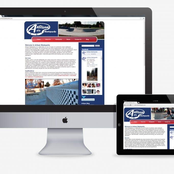 Artisan Skateparks website development