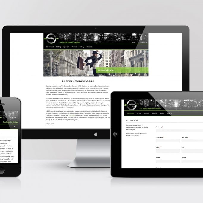 Business Development Guild website development