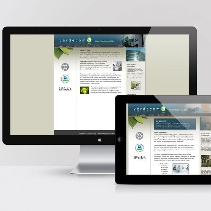 Verdecom website development